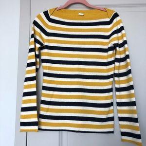 Jcrew Cashmere Boatneck Striped Ssweater